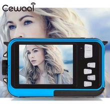 Cewaal Dual Double Screen Waterproof Video Camera DV 1080P Action Sports Diving