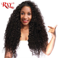 RXY Kinky Curly Wig Guleless Lace Front Human Hair Wigs For Black Women Malaysian Curly Hair Pre Plucked With Baby Hair Non Remy