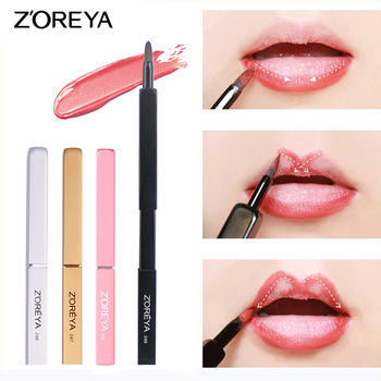 ZOREYA Retractable Lip Brushes Professional Makeup Brushes Portable Make Up Brushes for Lip Gross and Lip Stick Products