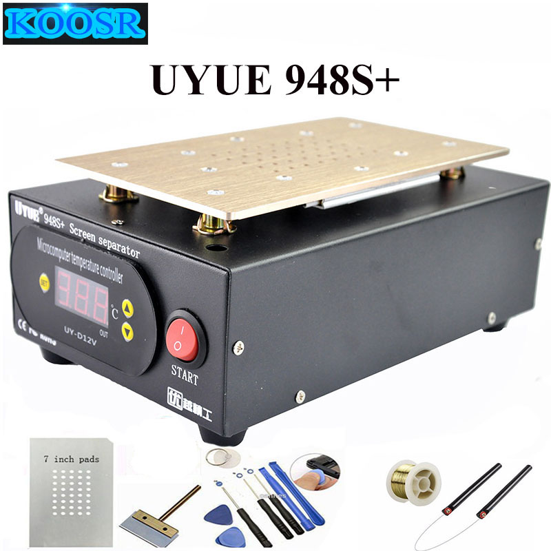 Hot Sale UYUE 948S+ LCD Separator Machine Screen Repair Machine Build-in Pump Vacuum Kit For IPhone For Samsung+Gift