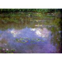 High quality handmade landscape oil painting on canvas Water Lilies The Clouds Claude Monet home picture decor modern art
