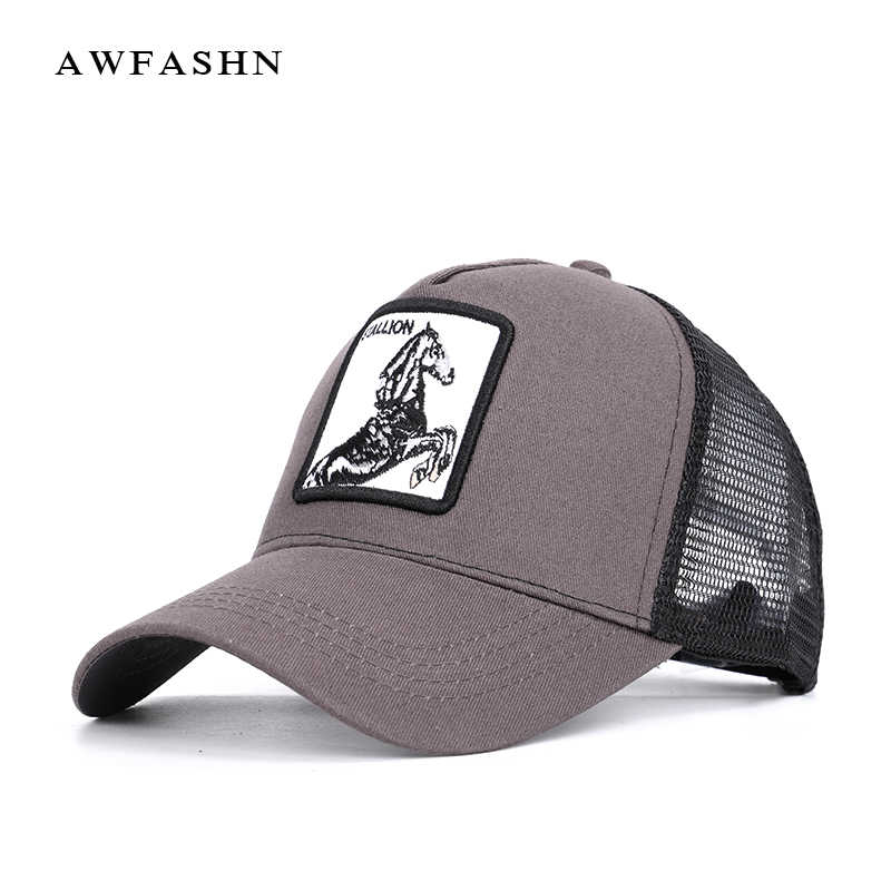 31199d8ff57c5 New High Quality Animal Embroidery Mesh Baseball Cap Fashion Summer hip hop  hat Adjustable Breathable Golf