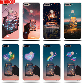Silicone Case for Huawei Y5 Y6 II Prime 2017 2018 Cover Glowing