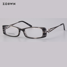 Small size Fashion Eye Reading Eyeglasses Optical Glasses Frames 2018 New Women Frame Ultra Light Clear
