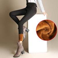 High Waist Leggings Autumn Winter Plus Thick Velvet Leggings Women Warm Pencil Pants Legging Outer Wear