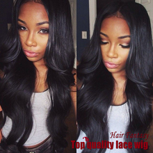 brazilian body wave Hair Synthetic Lace Front Wigs natural black middle part #1B Heat Resistant Synthetic Wigs for black women