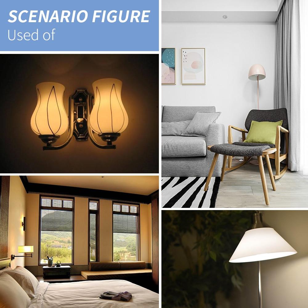 Купить с кэшбэком GU10 LED Bulb E27 LED Lamp 220V Lampada LED E14 Energy Saving Light 5730 SMD Chandelier Candle Bulb 24 36 48 56 69 72leds Ampul
