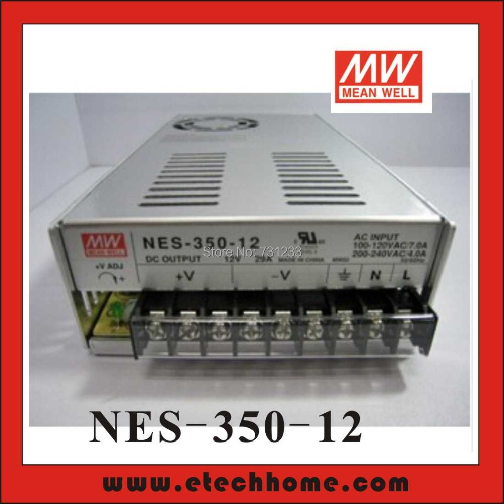 Mean Well Switching Power Supply 350W 12V 29A Single Output NES-350-12 for Embroidery Engraver Printer Plasma CNC Router Kits meanwell 12v 350w ul certificated nes series switching power supply 85 264v ac to 12v dc
