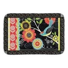Art Painting Boho Birds Doormat Flowers Decor font b Indoor b font Outdoor Door Mats For