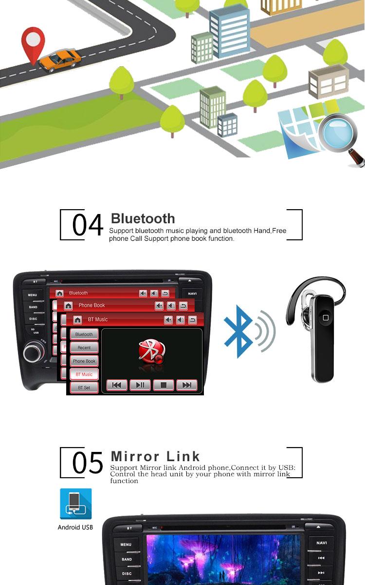 Flash Deal TOPBSNA 2 Din Car DVD Player For AUDI TT/TTS MK2 8J 2006-2012 GPS Navigaiton multimedia automotive dvd Auto Stereo Headunit USB 3