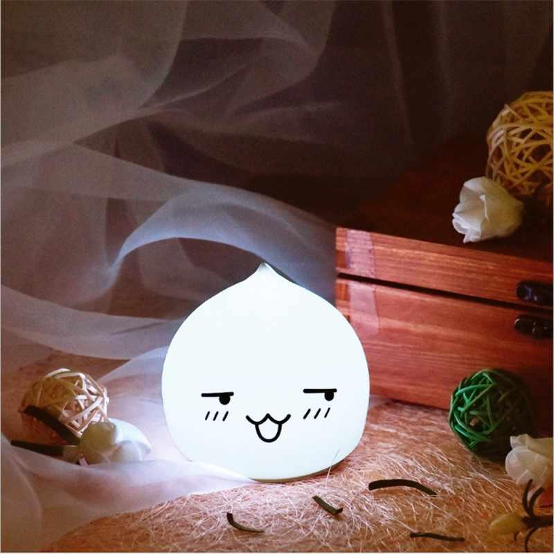 Ночник с милой каплей воды Luminaria Ночник Новинка светодиодный сенсорный затемнение подарок для детей