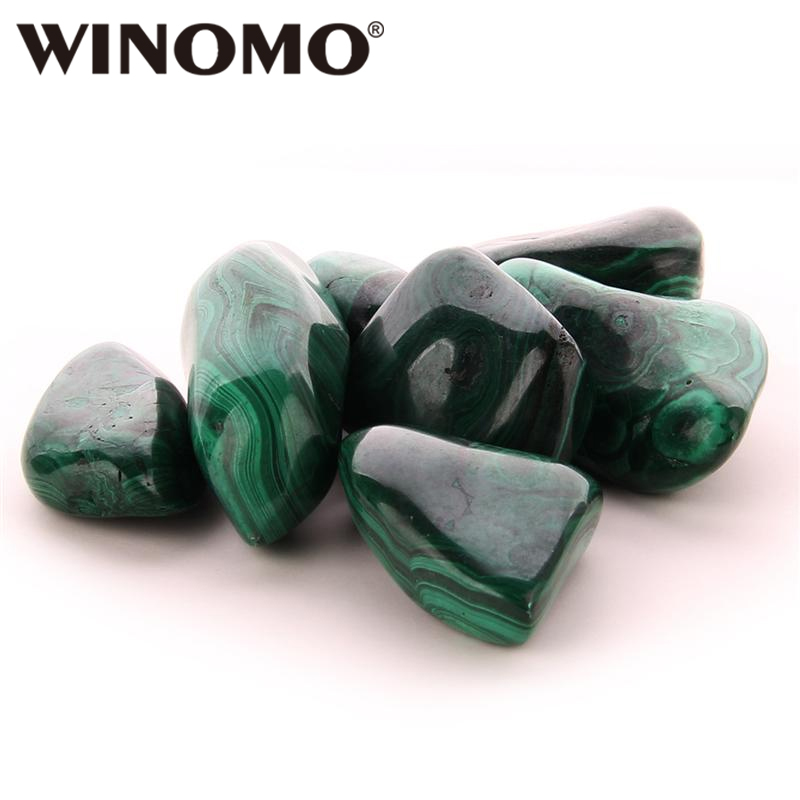 WINOMO 2 4CM Bulk Grain Malachite Stones Natural Polished Gemstone Supplies for Wicca Reiki and Energy Crystal Healing|Decorative Pebbles| |  - title=