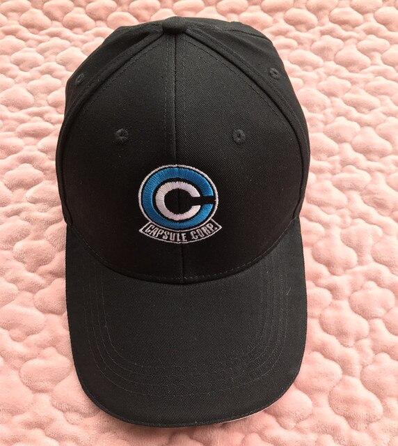 Dragon Ball Capsule Corp Embroidery Logo Topee Snapback Hat Black Baseball  Cap 9dc0327ab1b