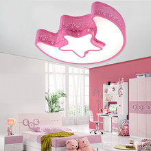 Modern Contemporary Iron Adjustable Child Children Girls Boys Kids Room Blue Star LED Ceiling Lamp Light Bedroom Indoor Lighting