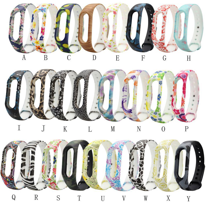 Replacement Silicone Strap For Xiaomi Mi Band 2 Colorful Straps For Xiaomi Miband 2 Smart Watch Bracelet Strap Wriststrap For M2