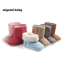 뜨거운 판매 슈퍼 따뜻한 겨울 아기 면화 부츠 소녀 소년 유아 신발 어린이 스노우 부티 1-3years