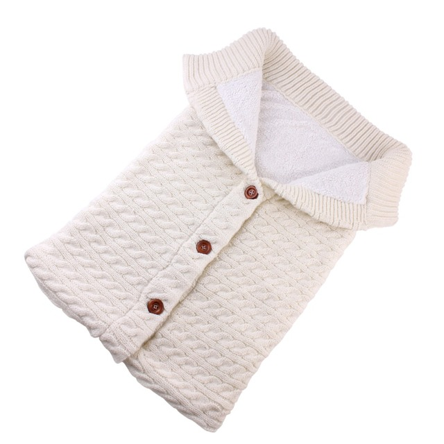 Puseky Baby Sleeping Bags Cotton Knitting Envelope for Newborn footmuff for stroller sleeping para bebek winter 2018 4