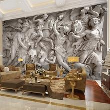 3D Wallpaper European Retro Roman Statues Art Wall