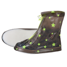 Yuding Children Non-slip Shoes Covers Rain Boots Kids Waterproof Raincoat Outdoor Travel Wellies