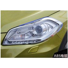 Front Headlight Cover Head Lamp Light Cover Trim Exterior Accessories 2pcs For Suzuki SX4 S-Cross Crossover 2014-2016