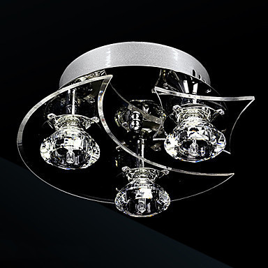 Luminaire LED Modern Crystal Ceiling Lights Lamp With 3 Lights For Living Room Lustres De Crystal Ceiling Lights Free Shipping noosion modern led ceiling lamp for bedroom room black and white color with crystal plafon techo iluminacion lustre de plafond