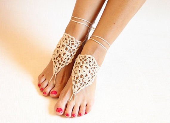 Foot decoration Belly dance shoes Yoga barefoot Beige barefoots ... 22fb8ee161b5