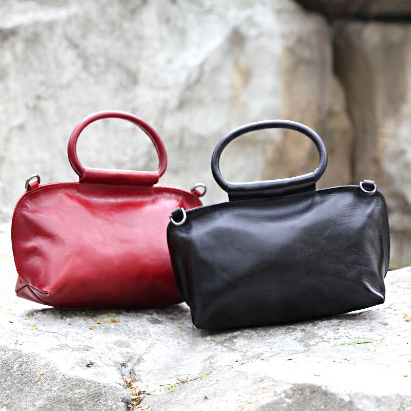 Handbag Women Original Design Handbag Leather Ladies Retro Bag Small Shoulder Diagonal Package