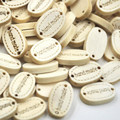 20/50/100pcs Wholesale Cute Kids Wood Buttons Handmade Word Craft Decoration Buttons 2-Holes Sewing Crafts Accessories