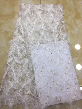 beads very soft unique African tulle lace sewing mesh French lace fabric high quality You will like So Amazing hot Sale white