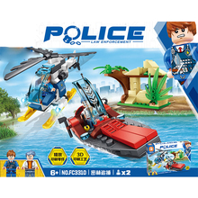 купить City Series Super heroes SWAT Policemen Helicopter ship Robbers Building Blocks Bricks Sets Model Toys Compatible with Legoings дешево
