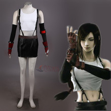 Athemis Final Fantasy VII Tifa Lockhart Cosplay Costume Custom Made Women Dress
