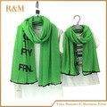 Лучшие продажи семьи сопоставления шарф letter pattern шарфы обертывание идеально подходит для молодой мамы и помет девушка