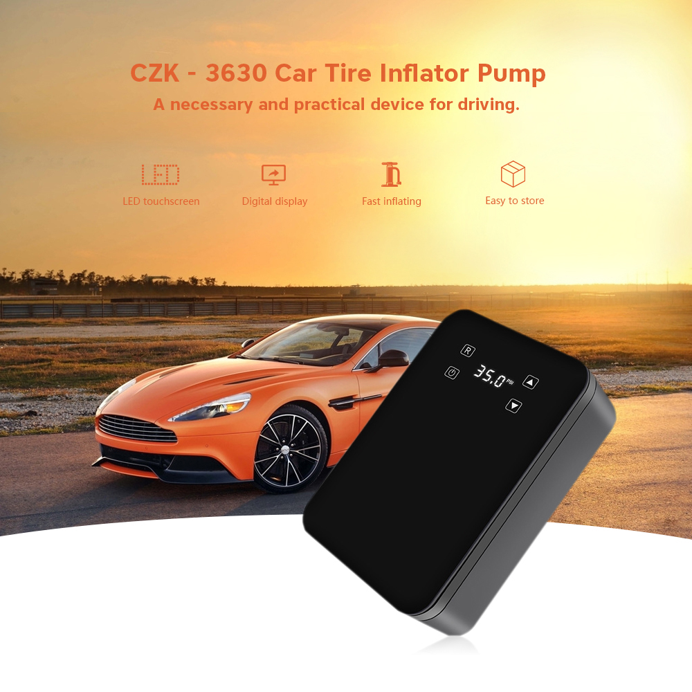Portable 12V LED Touch Screen Car Inflator Pump Auto Electric Air Compressor Tire Inflatable Pumps for Boat Moto Cigarette Light
