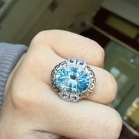 ZT романтический любовник кольца из стерлингового серебра 925 два белого или розового цвета кольца 12 карат топаз кольцо ювелирные изделия для