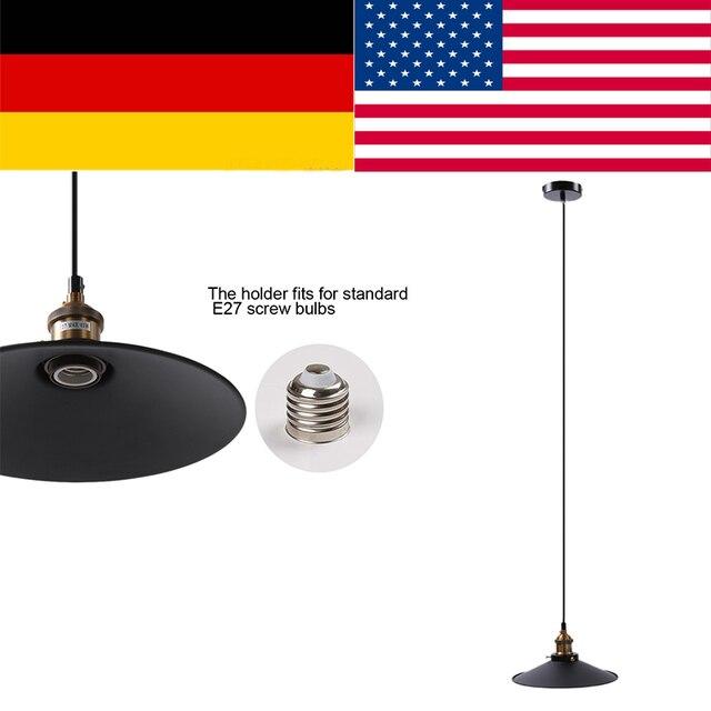 Fdit Vintage Industrial Ceiling Pendant Lamp Shade Metal Lampshade Lighting Fixtures