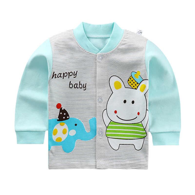 Luna Blanco Katoenen Baby Jongen jas Herfst Baby Boy pasgeboren jas jassen O-hals Fall meisjes bovenkleding Unisex Baby Kleding