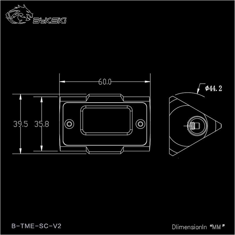 Bykski OLED affichage numérique compteur de température de L'eau refroidisseur d'eau Système Double G1/4 ''Thermomètre Température Capteur Montage - 6