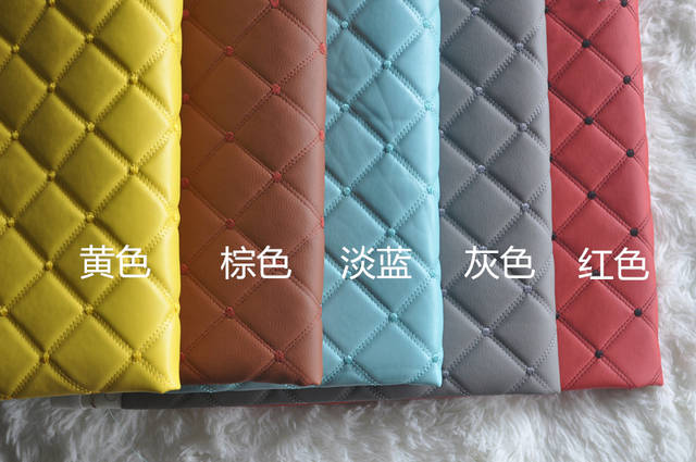 Online Shop 1 Meter Faux Pu Leather Diy Material Plaid Patterned Leather  Fabric Embossed Black Synthetic Leatherette For Car Interior Sofa  3a5bd9728d46
