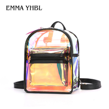 EMMA YHBL  New Korean fashion jelly transparent backpack with one shoulder and cross-body bag for girls