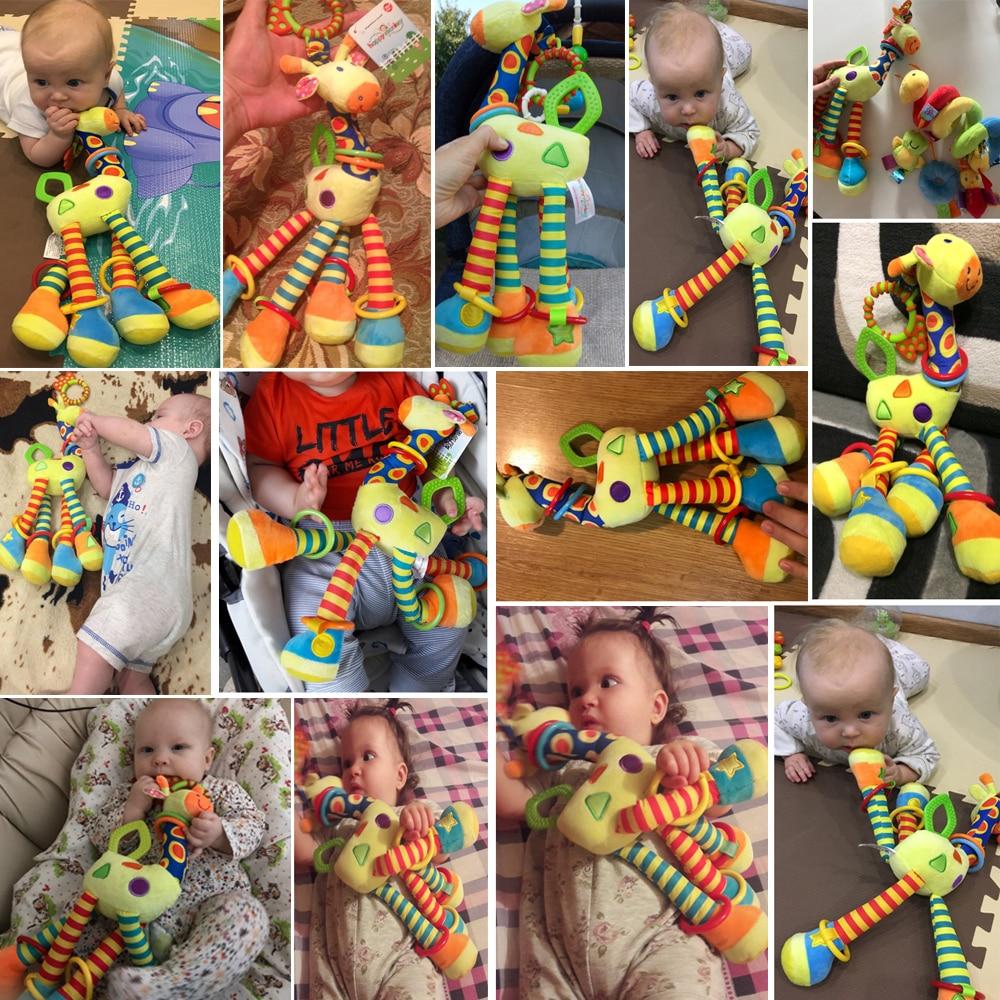 Plišaste igrače za dojenčke, žirafe, zvončki, ropotuljice, - Igrače za dojenčke in malčke - Fotografija 2