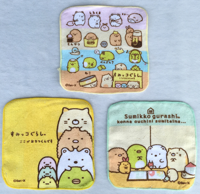 Cartoon Sumikko Gurashi Portable Towel Baby Handkerchief Square Pocket Hanky Zakdoek Children Handkerchief Cotton Towels 16CM