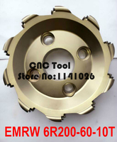 Emrw 6R200-60-10T de fresagem cortador de desbaste de corte plano de corte de perfil  Cnc cortador