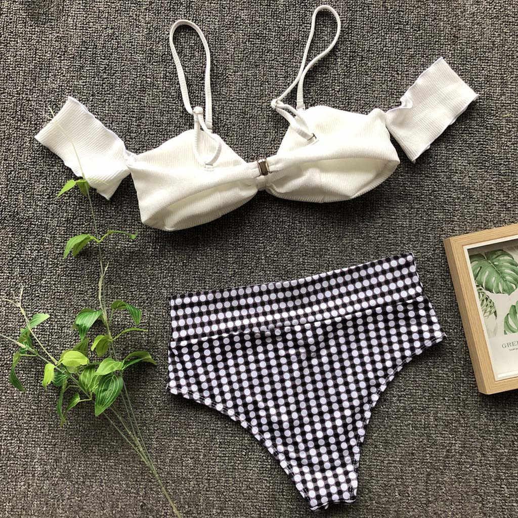 2019 Baru Wanita Bikini Push-Up Pad Mandi Swimsuit Beachwear Set Pakaian Renang Wanita Baju Renang Wanita Biquini Baju