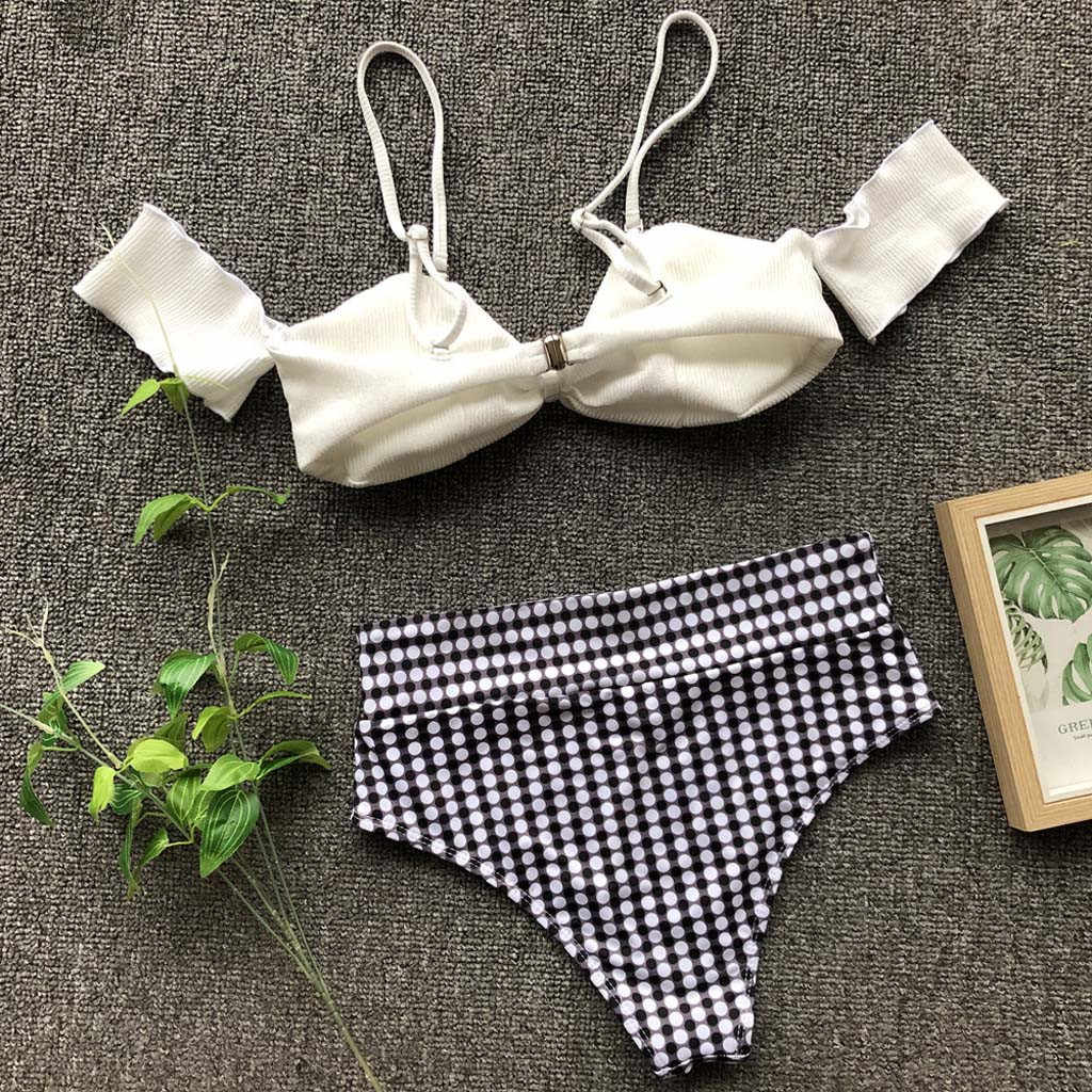 زي سباحة جديد مثير للنساء موضة 2019 بيكيني مزود بوسادة للاستحمام طقم ملابس بحر ملابس سباحة نسائية مايوه استحمام للسيدات