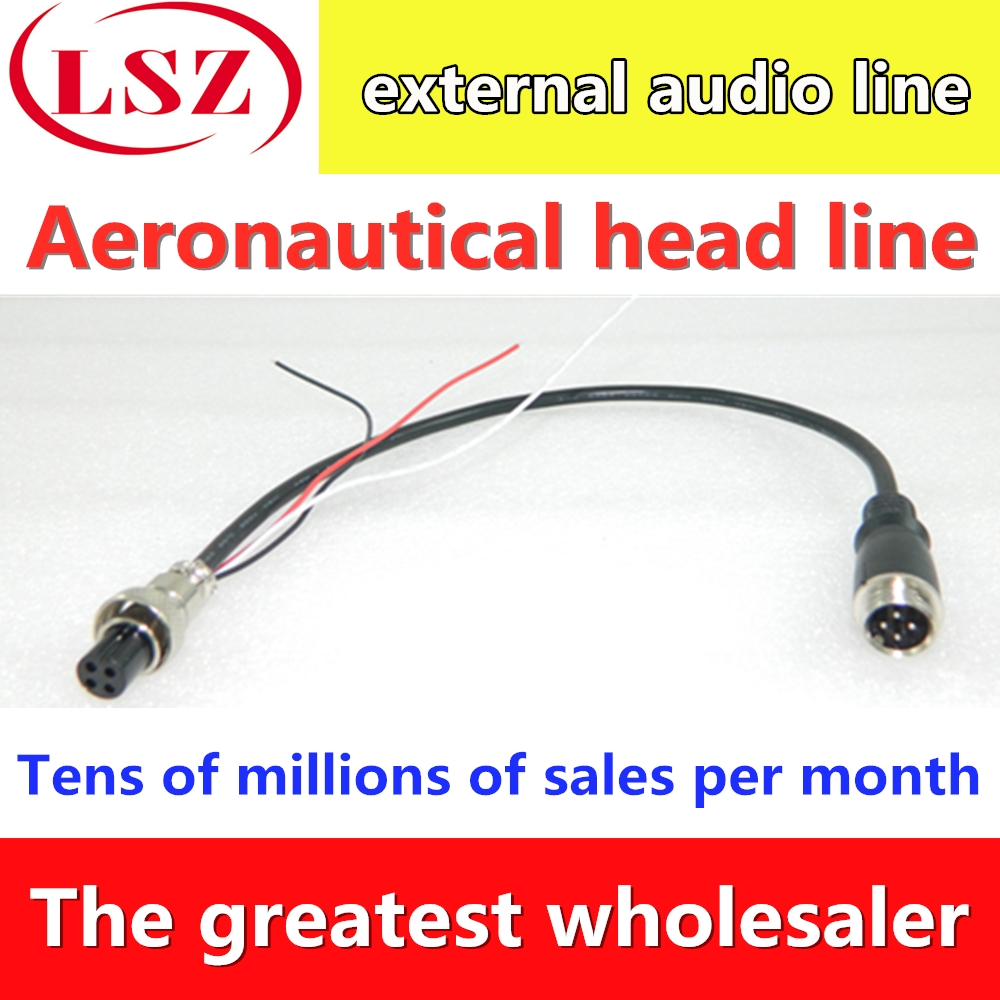 Vehicle Camera Tail Line Waterproof Plug Line 4pin Aircraft Female 4P Line Aviation Head Wire Manufacturer