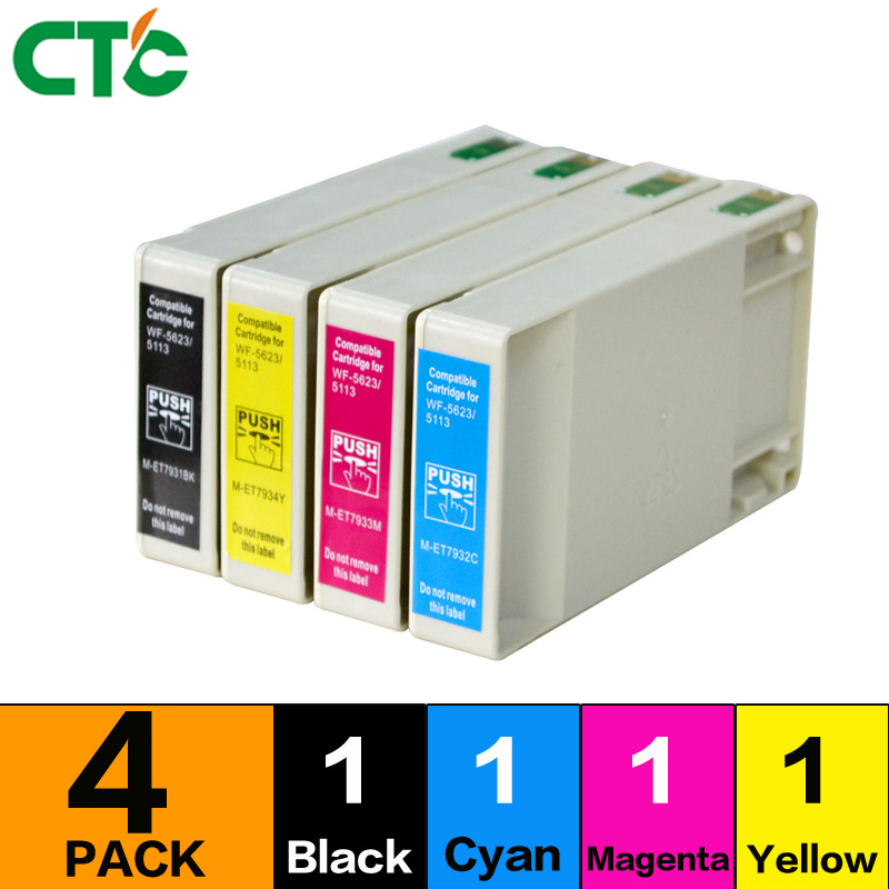 4 pack T676XL ink cartridge compatible for t676 WP4520 WP4530 WP4590 WP4020 printer