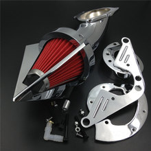 цена на For 1999&up Yamaha Road Star 1600 1700 XV1600A XV1700A Motorcycle Air Cleaner Kit Intake Filter Chrome 1999 2000 2001