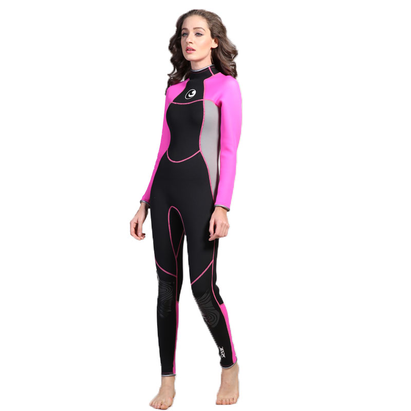 ФОТО HISEA Wetsuit Diving Women  Upscale Suit 3mm Siamese Winter Spring Autumn Diving Jellyfish Clothing Free Shipping