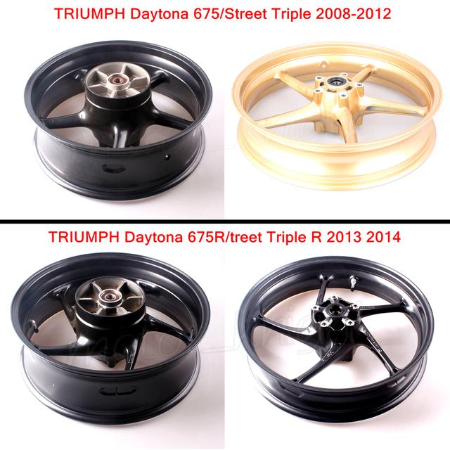 New Motorcycle Rear Front Wheel Rim For Triumph Daytona 675 Street