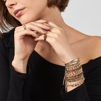 Best lady Boho Fashion Glass Bracelets For Women Vintage Multicolored Shiny Bracelet Geometric Jewelry Wedding Party Girl Gifts